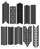 O pneu imprime o vetor Imagem de Stock Royalty Free