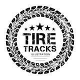 O pneu segue o vetor Imagem de Stock Royalty Free