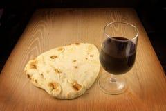 O pão e o vinho Fotografia de Stock Royalty Free