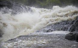 O poder da cachoeira de Murchison Falls Imagem de Stock