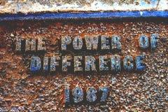 O poder da diferença 1987 imagens de stock
