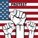O poder da liberdade, conceito com EUA embandeira o fundo Imagem de Stock Royalty Free