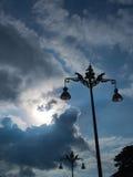 O poder polos é uma estátua dos elefantes e anjos Fotografia de Stock