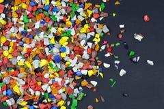 O polímero regrind fotos de stock