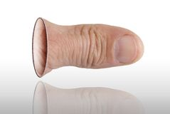 O polegar foto de stock