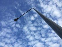O polo claro que fundo do céu azul Foto de Stock Royalty Free