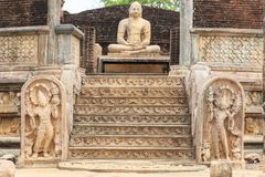 O Polonnaruwa Vatadage - Sri Lanka imagens de stock royalty free