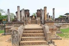 O Polonnaruwa Vatadage - Sri Lanka imagem de stock