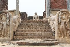O Polonnaruwa Vatadage - Sri Lanka imagens de stock