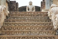 O Polonnaruwa Vatadage - Sri Lanka fotografia de stock royalty free
