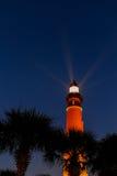 O Ponce De Leon Lighthouse na costa de Florida imediatamente antes da SU Fotografia de Stock Royalty Free
