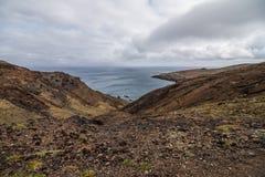 O Ponta bonito de Sao Lourenco da fuga popular trekking, caminhar e andar na ilha de Madeira fotografia de stock royalty free