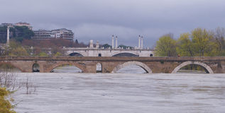 O Ponte Milvio Brdge foto de stock royalty free