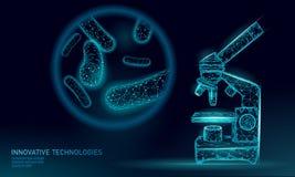 O ponto baixo das bactérias 3D poli rende o probiotics Flora normal saudável da digestão da produção humana do iogurte do intesti ilustração royalty free