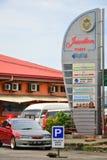 O ponto de Jesselton assina dentro Kota Kinabalu, Malásia Foto de Stock