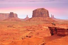 O ponto de John Ford do vale do monumento Fotografia de Stock