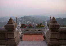 O ponto de vista de Doi-Mae-Slong com crepúsculo Imagens de Stock Royalty Free