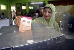 O PONTO INICIAL ELEITORAL DE INDONÉSIA Fotos de Stock Royalty Free