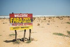 O ponto o mais northernmost de Colômbia e de América Latina, Gallinas de Faro Punta fotos de stock