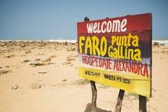 O ponto o mais northernmost de Colômbia e de América Latina, Gallinas de Faro Punta fotografia de stock