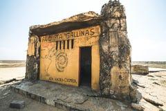 O ponto o mais northernmost de Colômbia e de América Latina, Gallinas de Faro Punta foto de stock