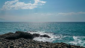 O ponto o mais northernmost de Turquia, inceburun, Sinop, Turquia fotografia de stock