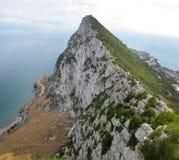 O ponto o mais elevado de Gibraltar Foto de Stock Royalty Free