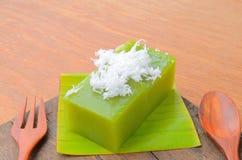 O poon de Kanom Piak é nome da sobremesa tailandesa fotografia de stock royalty free
