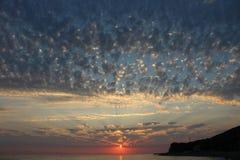 O por do sol é um dos fenômenos os mais fascinantes da natureza foto de stock royalty free