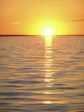 O por do sol Imagens de Stock