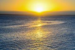 O por do sol bonito foto de stock