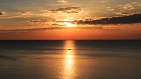 O por do sol bonito no inverno Fotos de Stock