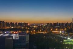 o por do sol de beijing na residência Imagens de Stock