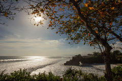 O por do sol dos oceanos imagem de stock royalty free