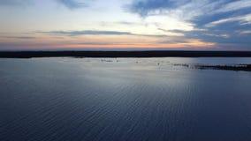 O por do sol em aviva a baía Ontário fotos de stock royalty free