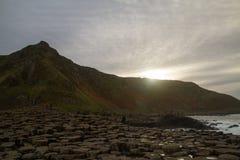O por do sol gigante da calçada do ` s Imagens de Stock Royalty Free