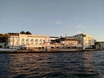 O por do sol do mar de Criema nubla-se a beleza bonita da viagem da recreação fotos de stock royalty free