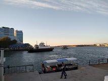 O por do sol do mar de Criema nubla-se a beleza bonita da viagem da recreação fotografia de stock