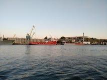 O por do sol do mar de Criema nubla-se a beleza bonita da viagem da recreação imagens de stock royalty free