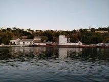 O por do sol do mar de Criema nubla-se a beleza bonita da viagem da recreação fotos de stock