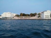 O por do sol do mar de Criema nubla-se a beleza bonita da viagem da recreação Foto de Stock Royalty Free