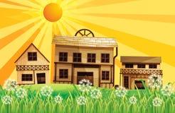 O por do sol na vizinhança Imagens de Stock Royalty Free