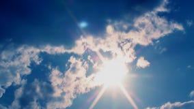 O por do sol nubla-se Ans Sun Timelapse video estoque