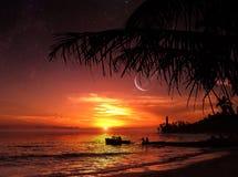 O por do sol perfeito Imagens de Stock