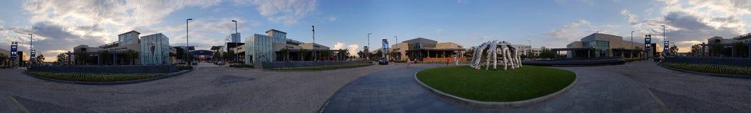 O por do sol Texas EUA do centro de Frisco Ford protagonizar em imagens de stock royalty free