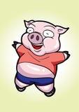 O porco é bonito Fotografia de Stock Royalty Free