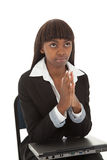 O portátil pray Imagem de Stock