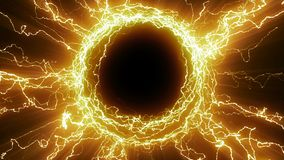O portal da energia do tesla video estoque