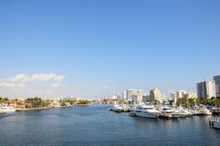 O porto, barcos, yachts Florida Fotografia de Stock Royalty Free