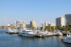 O porto, barcos, yachts Florida Foto de Stock